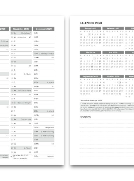 Planer-A5-Jahresplanung 2020