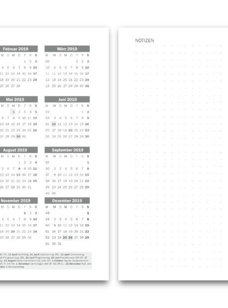 Planer-A5-Kalender 2019
