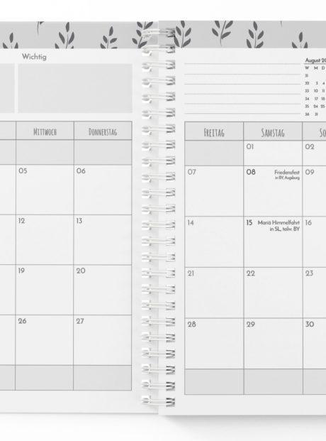 Schuelerplaner-Monatsplanung