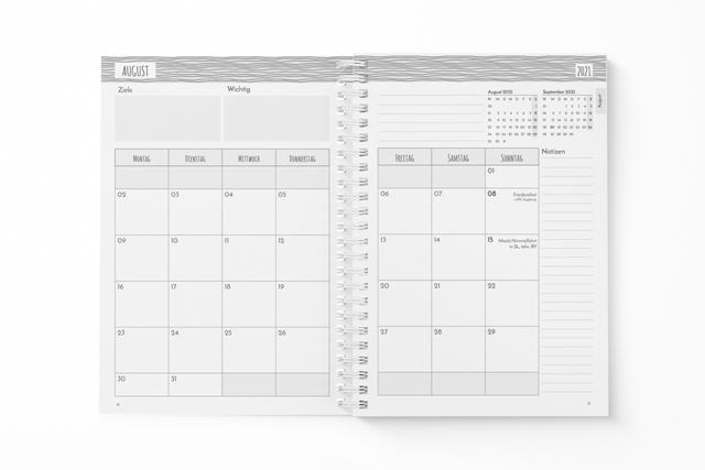 Klein-Schülerplaner-Monatsplanung
