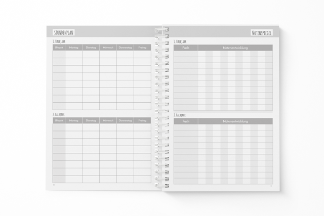 Klein-Schülerplaner-Stundenplan